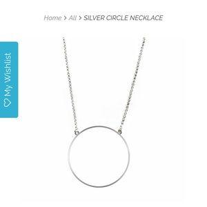 Lele Sadoughi Silver Circle Necklace